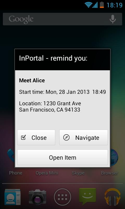 InPortal - Business Calendar- screenshot