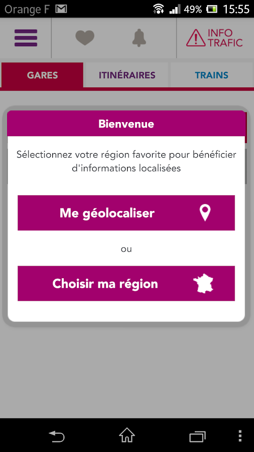 SNCF TER Mobile- screenshot