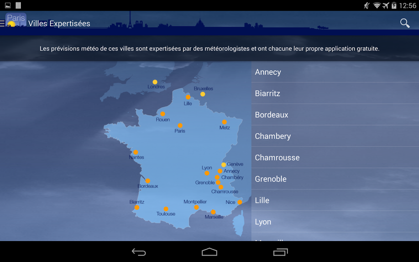 Météo Paris- screenshot