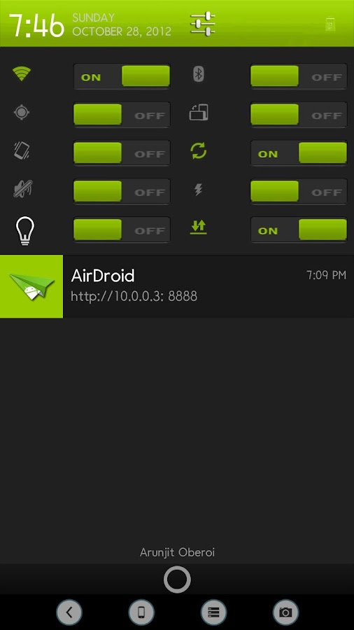 CM9/CM10/AOKP Theme Jade- screenshot
