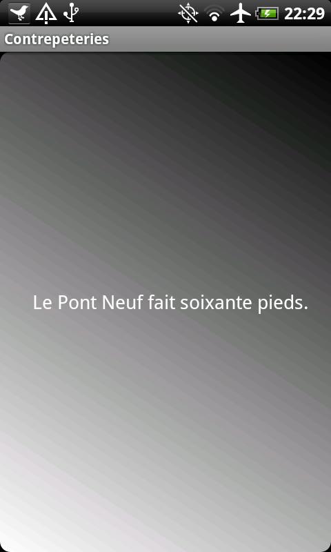 Contrepeteries- screenshot