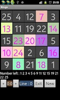 Screenshot of Bingo multiplayer game