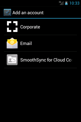 SmoothSync for Cloud Contacts – Screenshot
