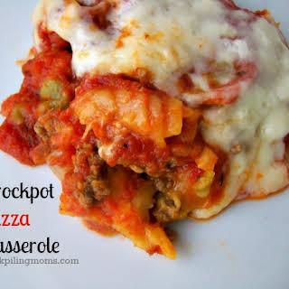 Crockpot Pizza Casserole.