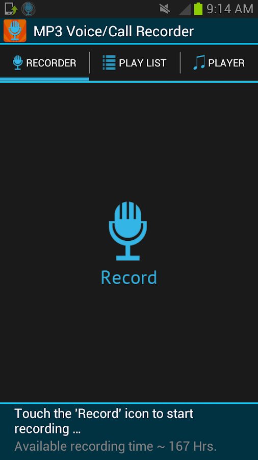 Smart Voice Recorder MP3 - screenshot