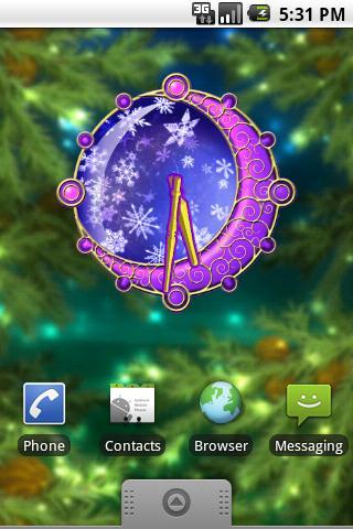 Christmas Clock deluxe screenshot #1