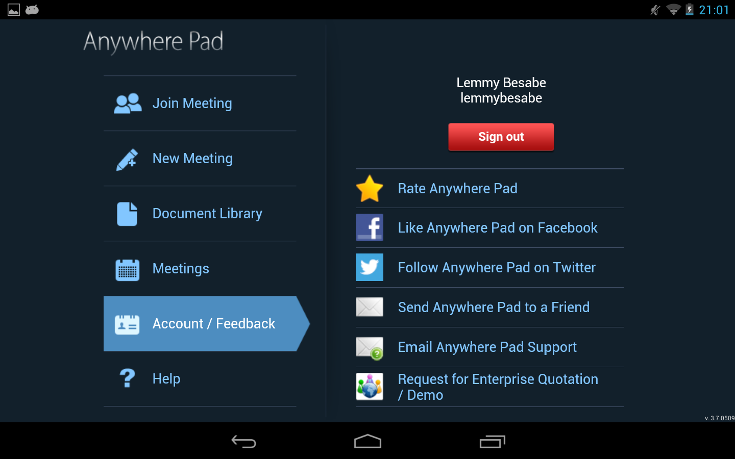 Anywhere Pad-Meet, Collaborate - screenshot