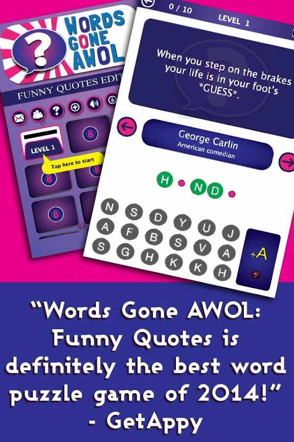 Words Gone AWOL: Funny Quotes- screenshot