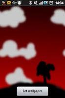Screenshot of Red Evening Live wallpaper