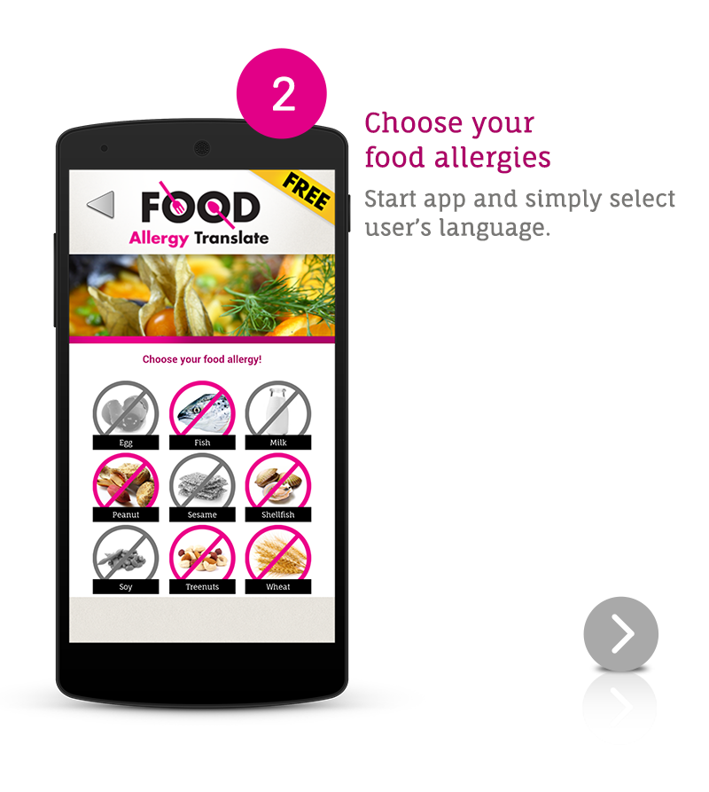 Food allergy translate free android apps on google play for Cuisine google translate