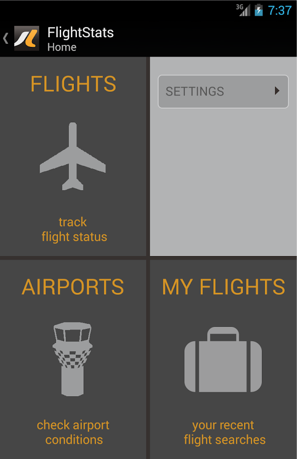 FlightStats - screenshot