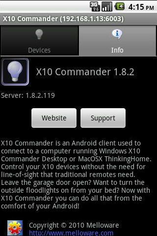 X10 Commander- screenshot