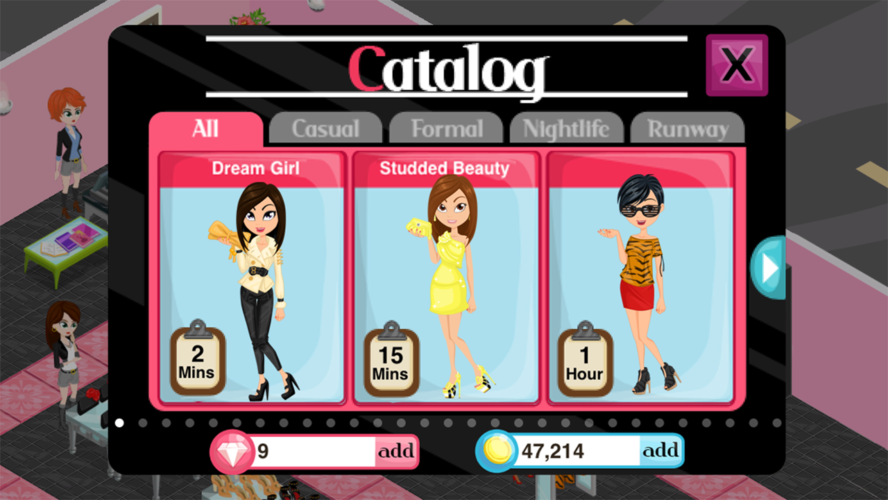 Fashion Story Cheats For Galaxy Fashion Story screenshot