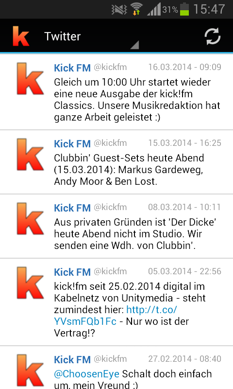 kick!fm- screenshot