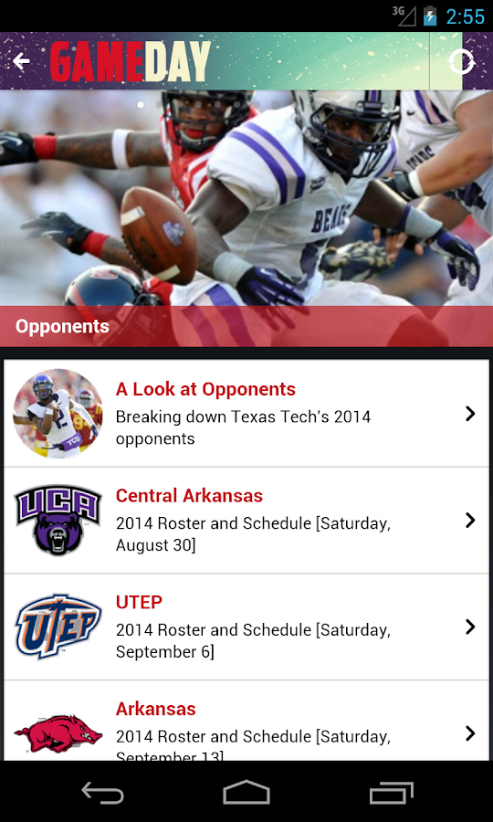 Texas Tech football Game Day- screenshot