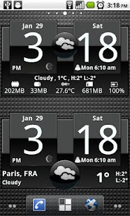 FlipClock ADW1 White 4x2 - screenshot thumbnail