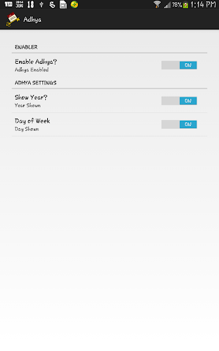 ADHYA - Today on Status Bar