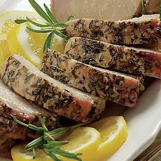 Lemon and Garlic Pork Tenderloin with Roasted Potatoes.