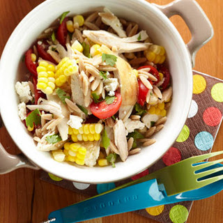 Orzo Chicken Salad with Avocado-Lime Dressing.