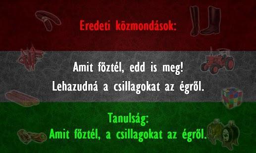 Magyar közmondás megamixer! - screenshot thumbnail