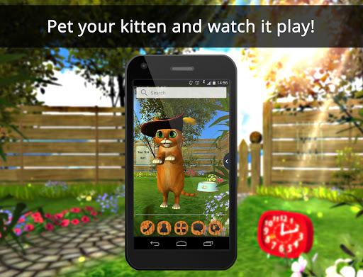 UR 3D Cute Kitten Wallpaper