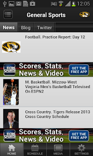 Missouri Tigers Sports - screenshot thumbnail