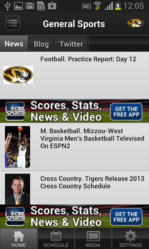 Missouri Tigers Sports - screenshot