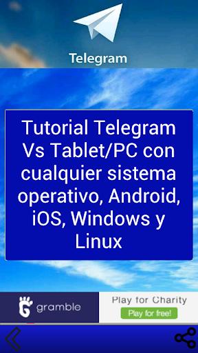 Instala Telegram Tablet PC