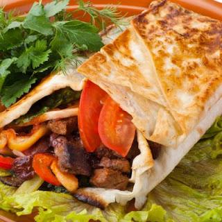 Peppered Steak Tortilla Roll.