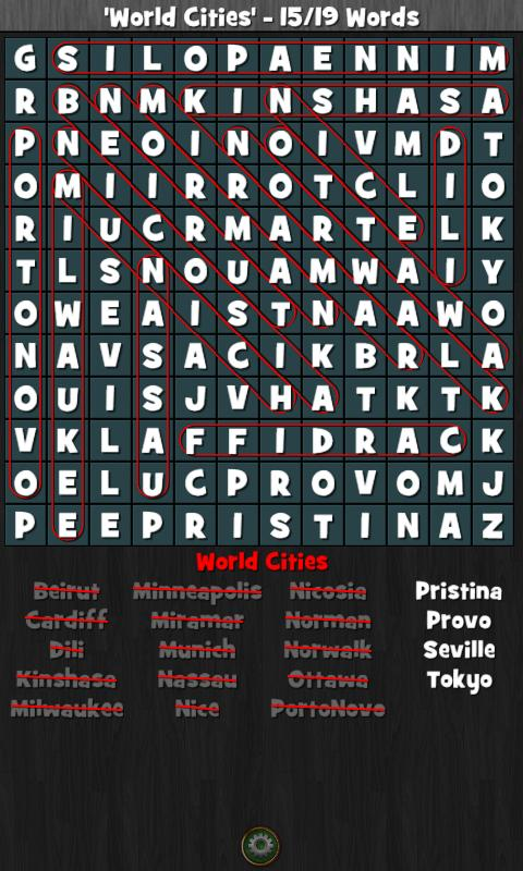 WordSearch Hunter Free- screenshot