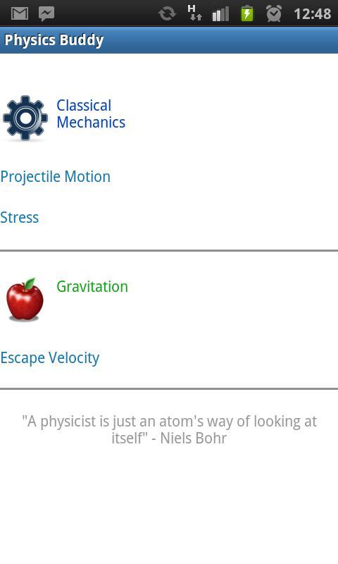 Physics Buddy- screenshot