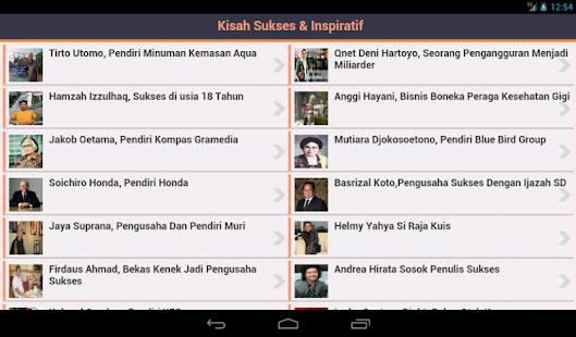 Kisah Sukses & Inspiratif- screenshot thumbnail