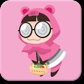 피그앤걸스 카카오톡 테마 - 핑크후드