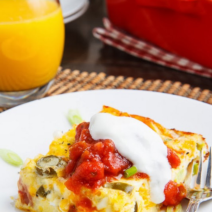 Ham and Cheese Egg Casserole