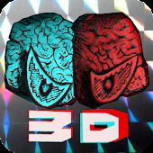 香山哲の赤青3Dおばけ展