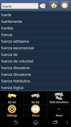 Spanish Slovak dictionary
