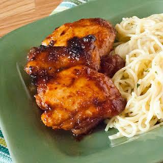 Spicy Honey Chicken Thighs.