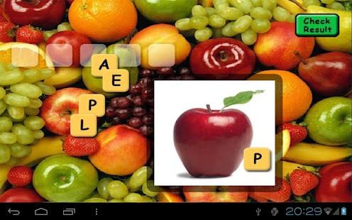 Fruit Scrabble Free- screenshot thumbnail