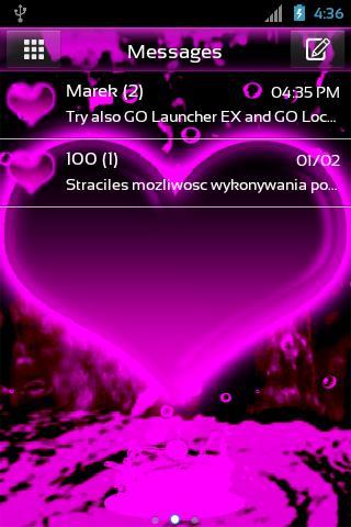 GO短信Pro的心主題