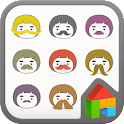 mustache Dodol launcher theme icon