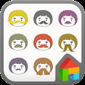 mustache Dodol launcher theme