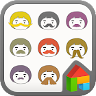 mustache Dodol launcher theme icon