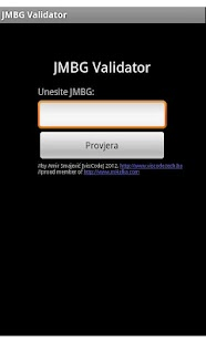 JMBG Validator - screenshot thumbnail