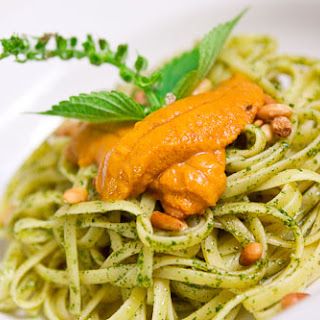 Shiso Pesto Pasta with Uni