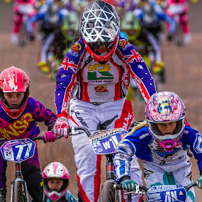 Girl Power! by Paul Milliken - Sports & Fitness Cycling ( australia #sydney olympic park, #bmx racing #bmx #cycling #sydney )