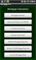 Screenshot of Mortgage Pro
