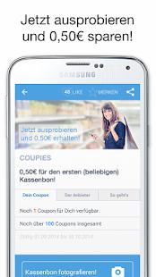 COUPIES - Spare Geld mit Coupons im Supermarkt Screenshot