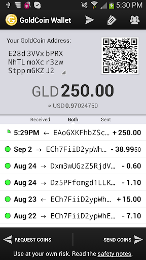 GoldCoin Wallet