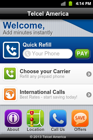 Telcel America Refill's