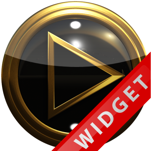 Poweramp Widget blackgold